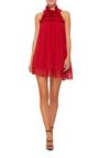 Ruffled Neck Mini Dress by GIAMBA Now Available on Moda Operandi