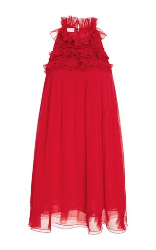 Medium giamba red ruffled neck mini dress
