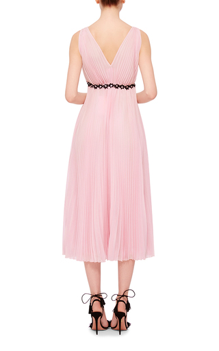 Flared Pleated Dress by GIAMBA Now Available on Moda Operandi