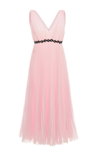 Medium giamba light pink flared pleated dress
