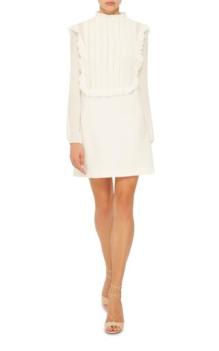 High Neck Ruffle Dress by GIAMBA Now Available on Moda Operandi