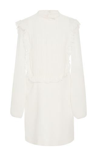 Medium giamba white high neck ruffle dress