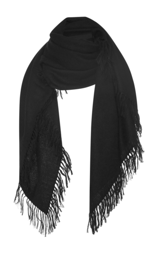 Medium isabel marant black zila fringe scarf 2