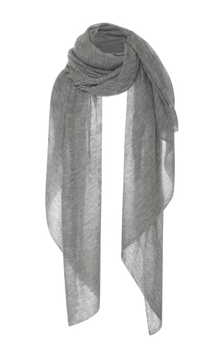 Medium isabel marant light grey zephyr cashmere scarf