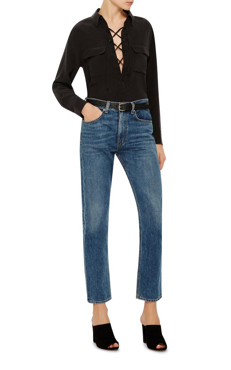 Black Leather Zap Belt Isabel Marant VZ31F7f