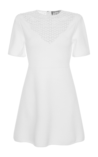 Medium giambattista valli white laser cut floral mini dress