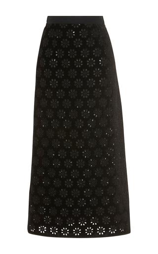 Medium giambattista valli black laser cut floral skirt