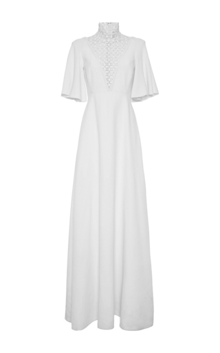 Medium giambattista valli white laser cut floral gown