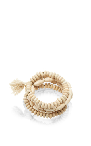 Medium isabel marant ivory beaded tassel bracelet 2