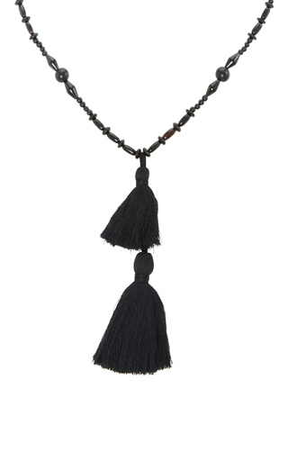 Medium isabel marant black beaded tassel bracelet 3