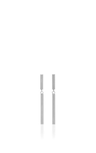 Medium isabel marant silver long bar drop earrings