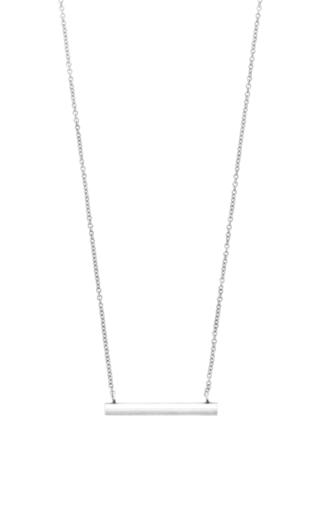 Medium isabel marant silver long bar necklace