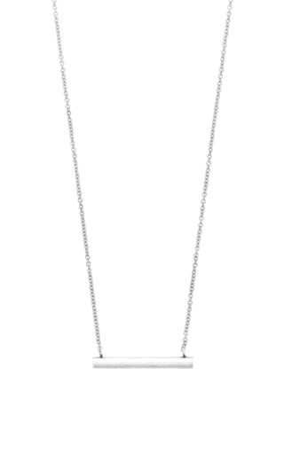 Medium isabel marant silver long bar necklace