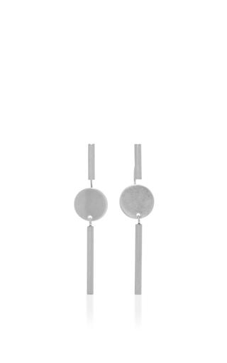 Medium isabel marant silver circle bar drop earrings 2