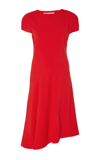 Medium marni red tailored short sleeved dress