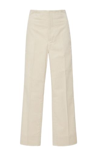 Medium marni tan cropped corduroy pants