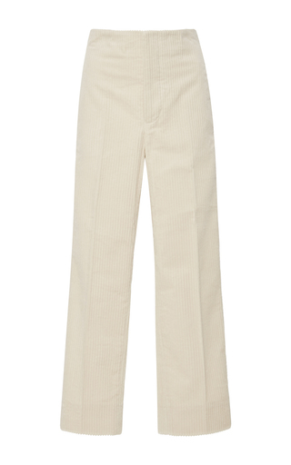 Medium marni tan cropped corduroy pants