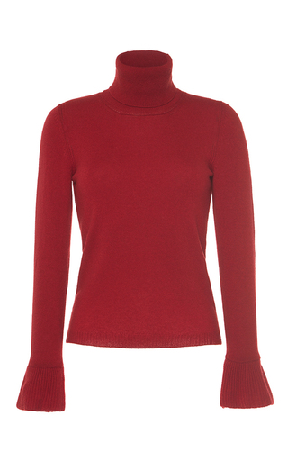 Medium vilshenko red mimi wool cashmere turtleneck