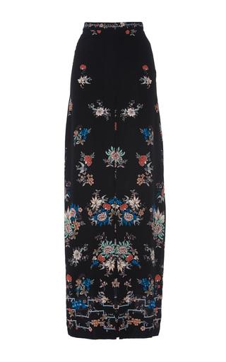 Medium vilshenko floral adele silk maxi skirt