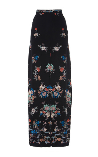 Medium vilshenko floral adele silk maxi skirt