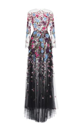 Medium zuhair murad black embroidered tulle gown