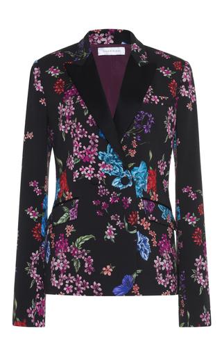 Medium zuhair murad black floral cady tuxedo jacket