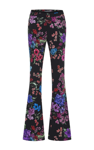 Medium zuhair murad black floral cady tuxedo pants