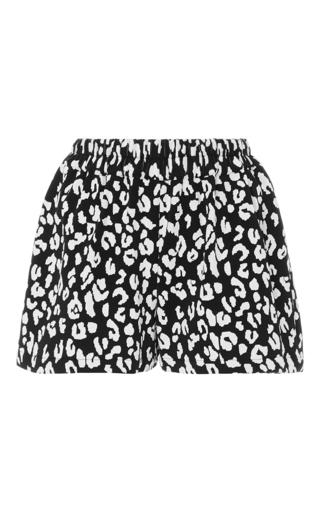 Medium prism animal leopard printed shorts