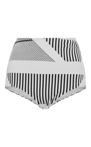 Medium prism black white hollywood high waist bikini bottom