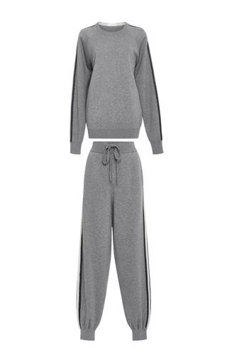Medium olivia von halle dark grey missy london sweatshirt and joggers set