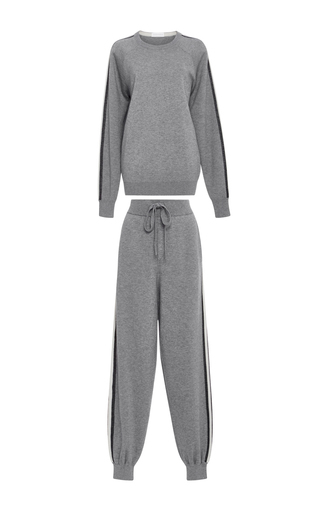Medium olivia von halle dark grey missy london sweatshirt and joggers set