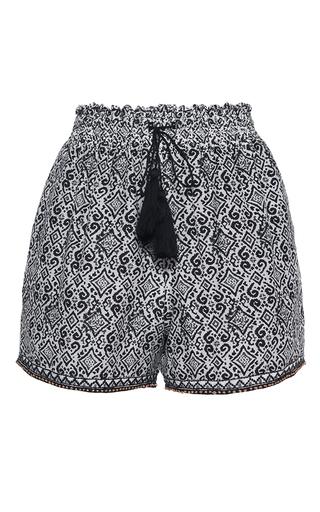 Medium talitha blue tribal print ruched shorts