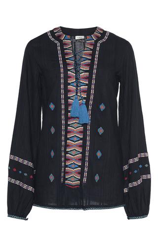 Medium talitha black tribal embroidered aisha top