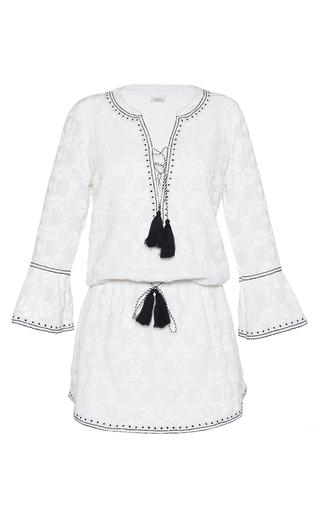 Medium talitha white geometric embroidered ria dress