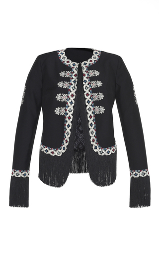 Diamond Embroidered Zoe Jacket by TALITHA for Preorder on Moda Operandi
