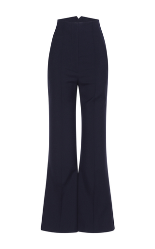 Medium roksanda ilincic navy wool flared trouser