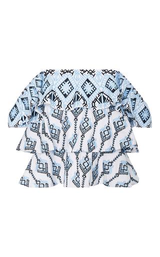 Medium caroline constas multi margi embroidered tiered top