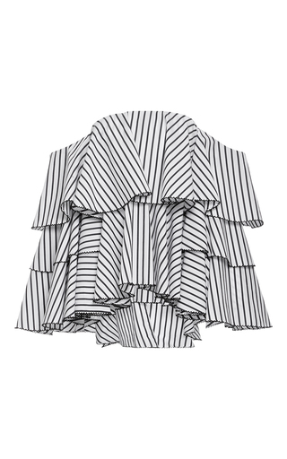 Medium caroline constas stripe carmen off the shoulder top