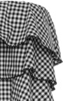 Gingham Tiered Crop Top by CAROLINE CONSTAS Now Available on Moda Operandi