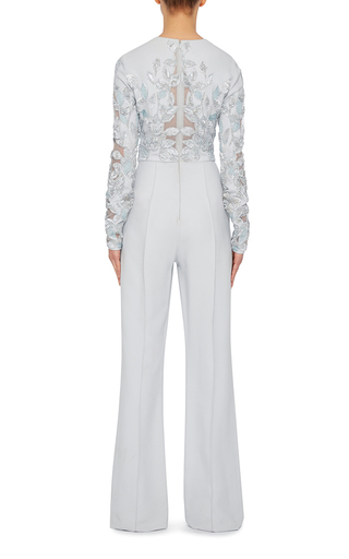Lace Embroidered Jumpsuit by ELIE SAAB Now Available on Moda Operandi