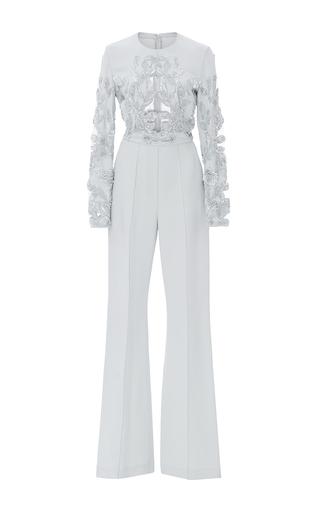 Medium elie saab light blue lace embroidered jumpsuit