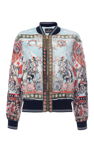 Day Dream Printed Silk Bomber Jacket by Roberto | Moda Operandi