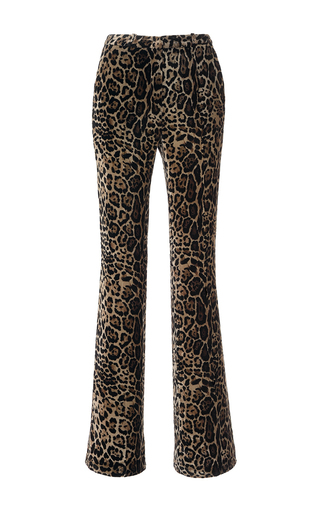 Medium roberto cavalli animal printed velvet straight leg pant