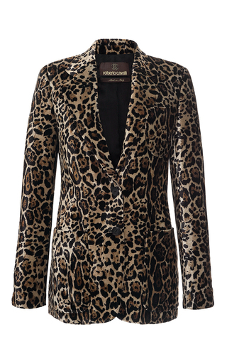 Medium roberto cavalli animal animal printed velvet blazer