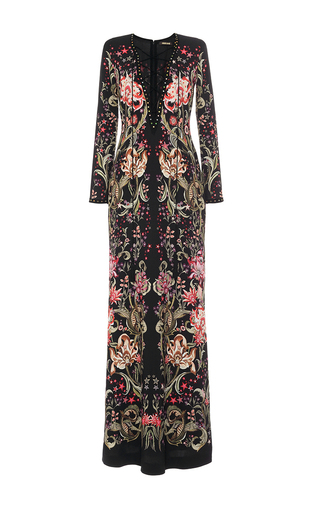 Medium roberto cavalli print lace up long dress