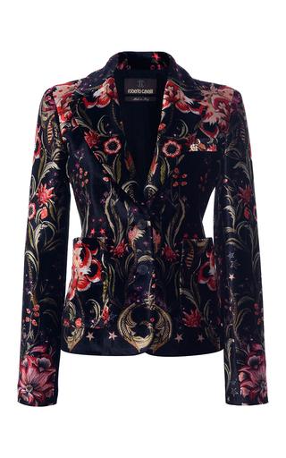 Medium roberto cavalli black velvet tailored blazer