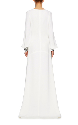 Beaded Detail Long Sleeved Gown by ROBERTO CAVALLI Now Available on Moda Operandi