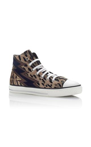 Medium roberto cavalli animal leopard calf hair sneakers