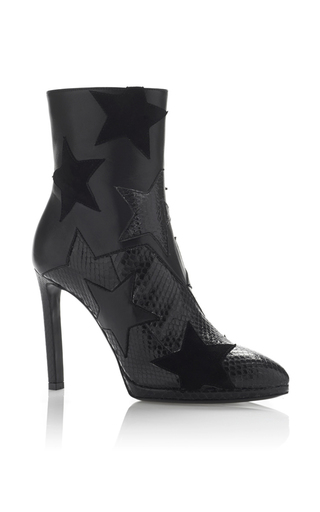 Medium roberto cavalli black black star ankle boot