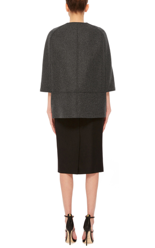Short Double Breasted Wool Cape by MARTIN GRANT Now Available on Moda Operandi
